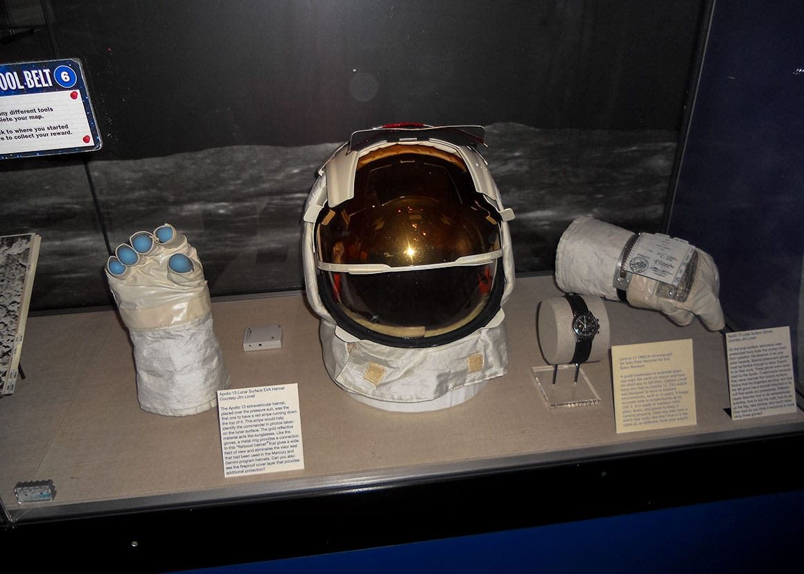 Gemini 12 and Apollo 13 exhibits